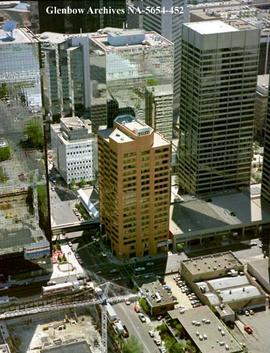 Aerial view of  Canada Place building, Calgary, Alberta.