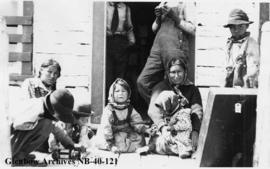 Ojibwa women and children, Long Lake, Ontario.