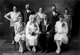 Wedding party, Crowsnest Pass area, Alberta.