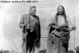 Mrs. Water Chief and her husband, Blackfoot (Siksika) reserve, Alberta.