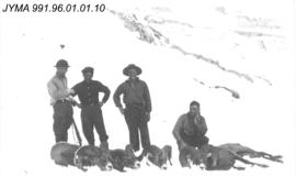 [Group of hunters with Rocky Mountain Sheep]