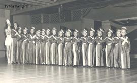 A group of children in dance costume.