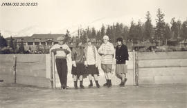 A group of men and women at Jasper's winter festival