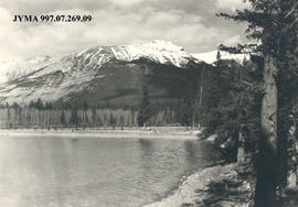 View of Old Man Mountain, Jasper National Park, Alberta.