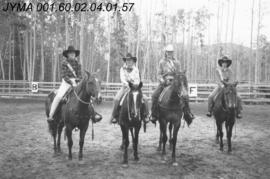 Jasper Rodeo Queen Contestants, Pyramid Riding Stables, Jasper, Alberta