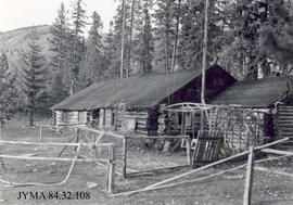 Warden's cabin at Yellowhead Pass, Jasper National Park, Alberta.
