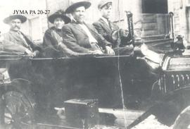 The Moberly Family in an automobile.