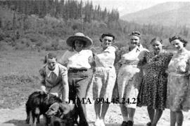 Group of women at Mount Robson Dude Ranch, British Columbia.