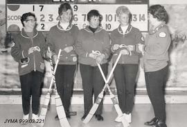 Ladies curling team, Jasper, Alberta.
