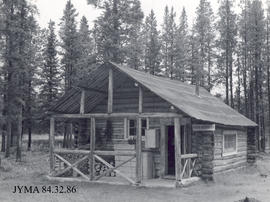 The old Lower Smoky warden's cabin, Jasper National Park, Alberta.