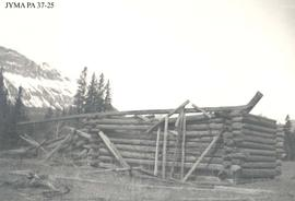 Ruins of the John Moberly homestead buildings, Jasper National Park, Alberta.