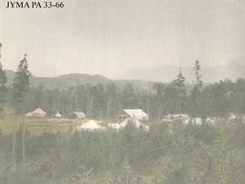 A group of tents, location unknown.