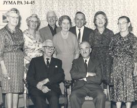 Group at the home of Mrs. Peterson, Jasper, Alberta.