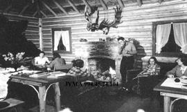 Inside of the main building of the Black Cat Ranch, near Jasper National Park, Alberta.
