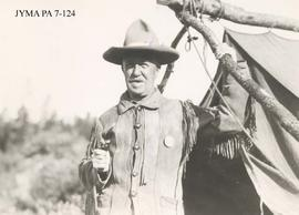 A member (name unknown) of the Trail Riders of the Canadian Rockies, Jasper National Park, Alberta.