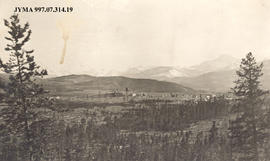 Aerial view of Fitzhugh town site, Alberta.