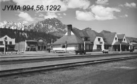 Jasper town site buildings : [Train station]