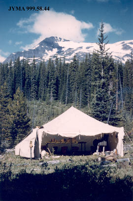 Cook tent at Campion Creek Camp, Alberta.