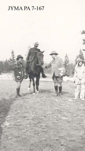 Sir Henry Thornton and Lady Thornton's visit to Jasper, Jasper National Park, Alberta.