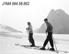[Miss Brace and Mr. Scott  Summer skiing Expedition],  Jasper National Park