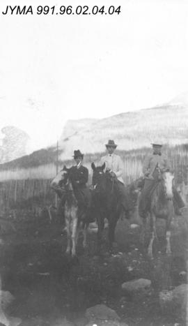 [The Otto women on horseback], Alberta