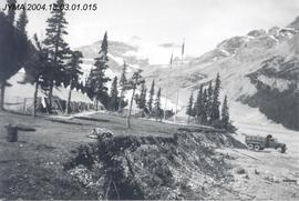87th Mountain Infantry Detachment's base camp at Parker Ridge, The Columbia Icefield, AB.