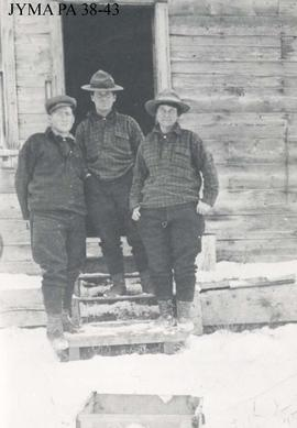 Curly Phillips and friends at Entrance, Alberta.