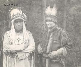 Sarcee Indian clothing purchased by Fred Brewster, Alberta.