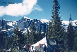 Tent at Campion Creek Camp, Alberta.