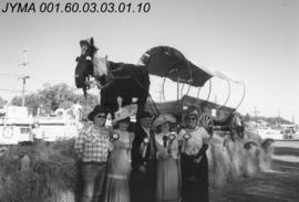 [First prize winners of the Klondike Day float parade contest], Edmonton, Alberta