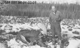 [Hunter with Moose]