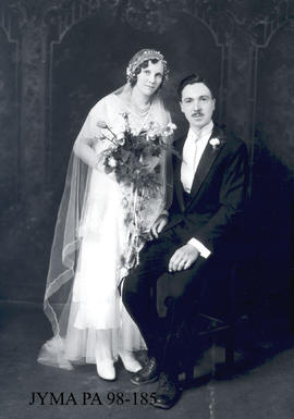 Mr. and Mrs. S.A. Knowles on their wedding day.