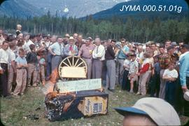 Yellowhead Highway Association demonstration, Mt. Robson, British Columbia.