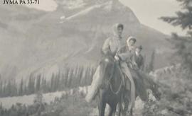 Unidentified group on a trail ride, Jasper National Park, Alberta.