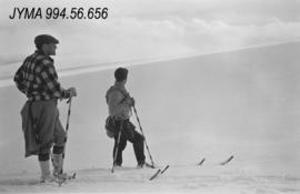 [Bennett Party Expedition] : [two skiers, Jasper National Park]