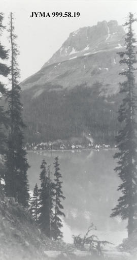 Alpine Club of Canada Camp at Maligne Lake, Jasper National Park, Alberta.
