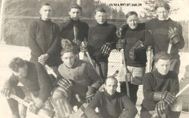 Commercial League Hockey Team, Jasper, Alberta.