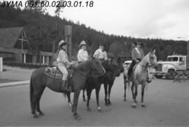 Jasper Rodeo Queen Contestants, Pyramid Lake Road, Jasper, Alberta