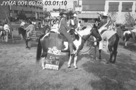 Group of Rodeo Queens on horses, Calgary Alberta