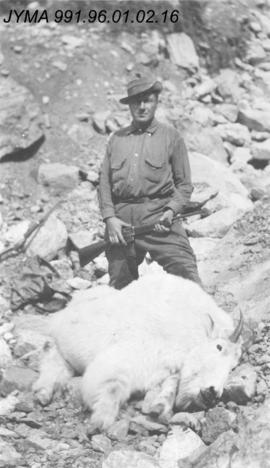 [Hunter with Mountain Goat]