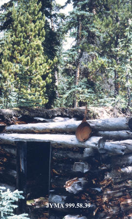 The Otto Brother's trapper cabin at Maligne Lake, Jasper National Park, Alberta.