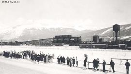 The first ski meet at Jasper, Alberta.