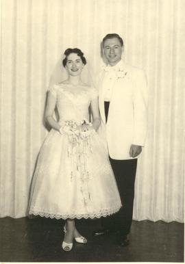 Wedding of Dr. Eli Adler and Phyllis Smordin.