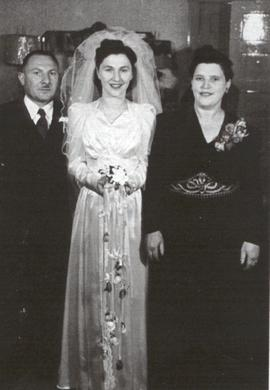Ruth Superstein with her parents.