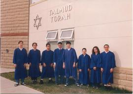 Talmud Torah Grade 9 Graduating Class outside school 1998