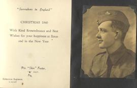 "Christmas card from Private ""Slim"" Foster."