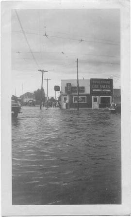 Flood during Word War II.