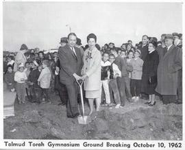 Talmud Torah Gymnasium ground breaking ceremony.