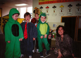 Children in costume at Shalom Playschool, Edmonton, Alberta.