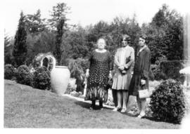 Mrs. Smith, daughter, and Miss Watt (a Millet school teacher) on their holiday trip to British Co...